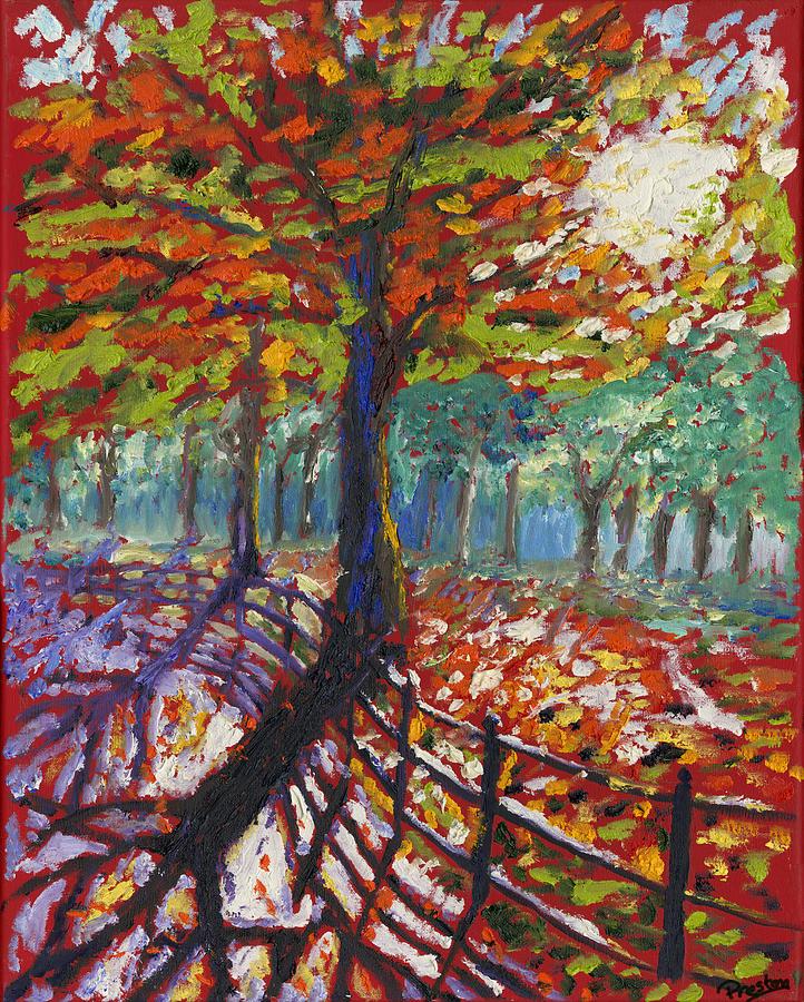 Fall Sunrise Painting - Fall Path by Preston Sandlin