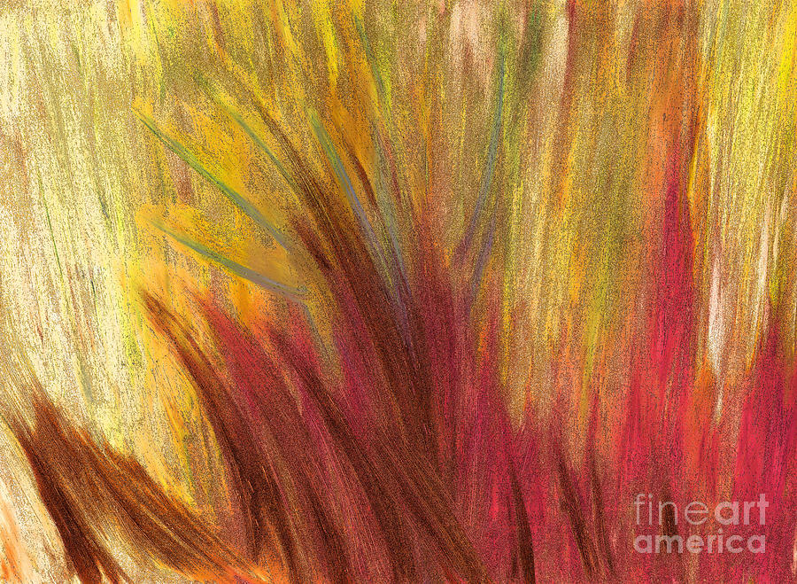 First Star Painting - Fall Prairie Grass By Jrr by First Star Art