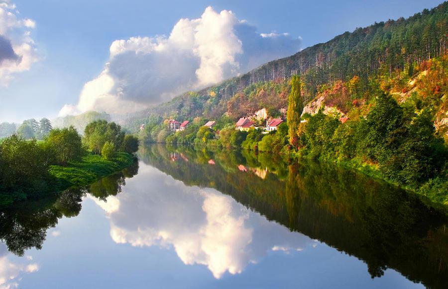 Autumn Photograph - Fall Reflection by Nadya Ost