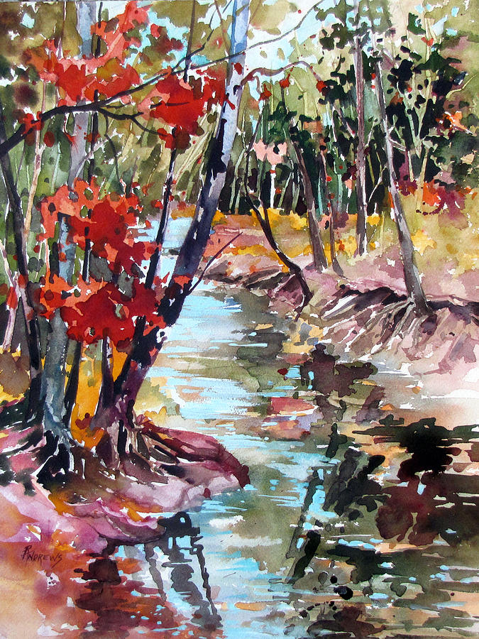 Fall Painting - Fall Reflections by Rae Andrews