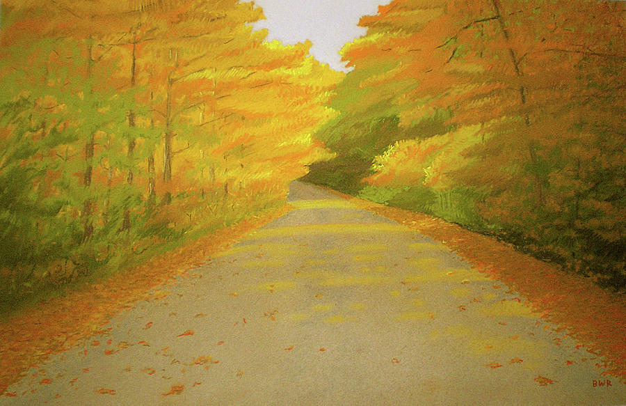 Landscapes Pastel - Fall Road Granby by Bruce Richardson