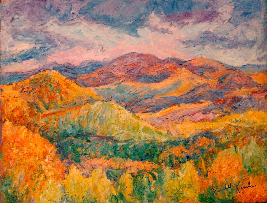Fall Mountain Oil Paintings Painting - Fall Rush by Kendall Kessler