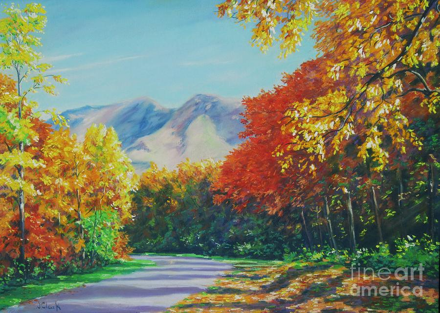 Tennessee Painting - Fall Scene - Mountain Drive by John Clark