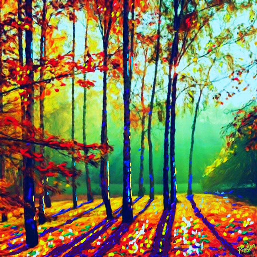 Fall Shadows Painting by Preston Sandlin