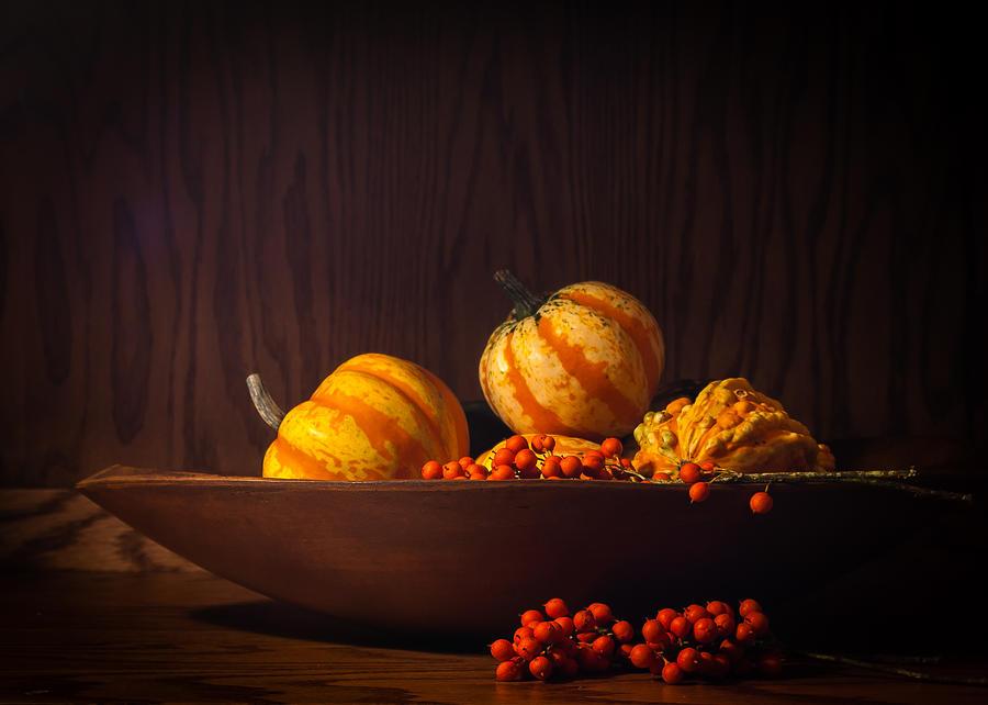 Berries Photograph - Fall Still Life by Wayne Meyer