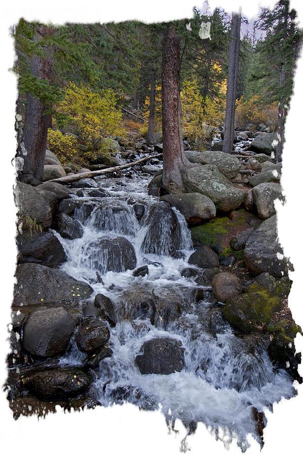 Fall Stream Cascade by Judy Deist