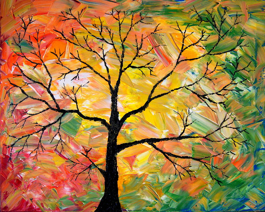 balls painting fall tree by cevin cox
