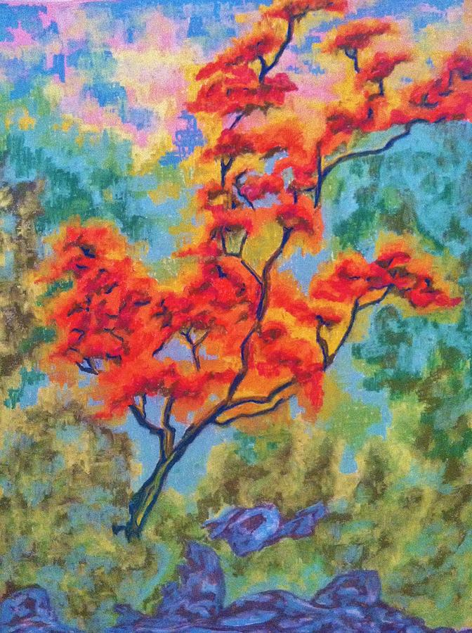 Fall Tree Pastel