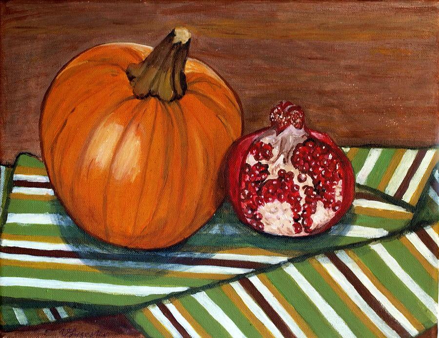 Pumpkin Painting - Fall by Vera Lysenko