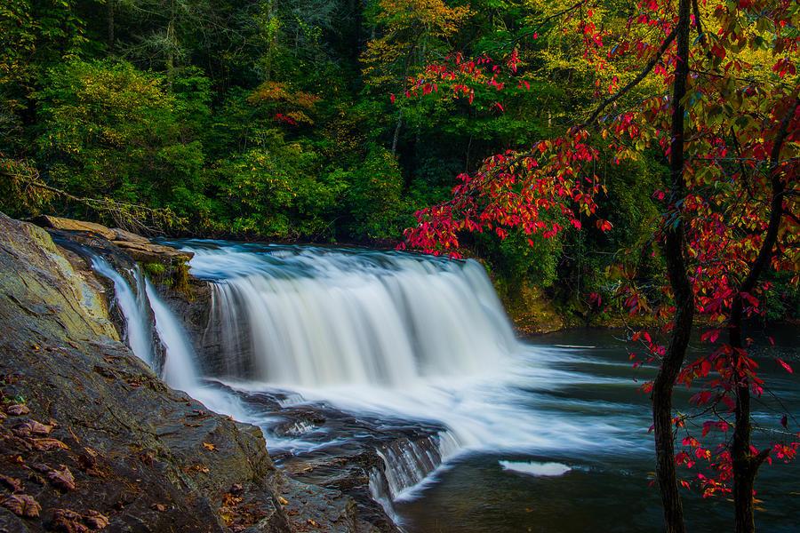 Landscape Photograph - Fall Waterfall by Griffeys Sunshine Photography