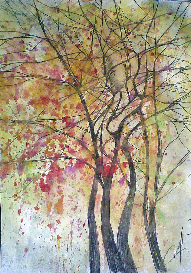 Fall Women Painting by Vaidos Mihai