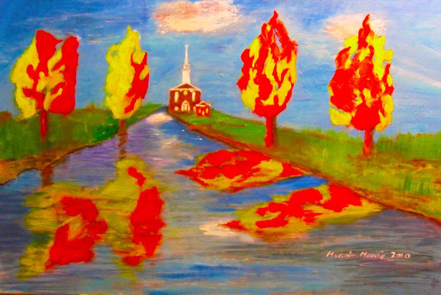 Autumn Painting - Fall Worship by Mounir Mounir