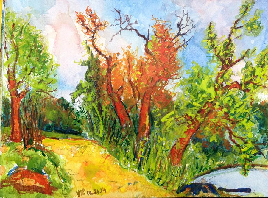 Fall Painting - Fall2014-10 by Vladimir Kezerashvili