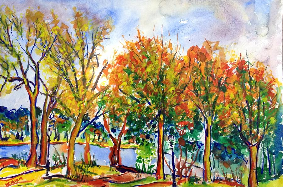 Fall Painting - Fall2014-12 by Vladimir Kezerashvili