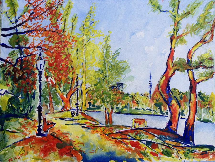 Fall Painting - Fall2014-13 by Vladimir Kezerashvili