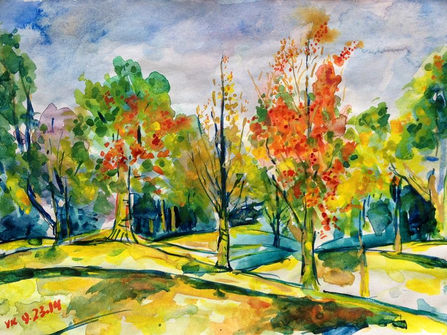 Fall Painting - Fall2014-17 by Vladimir Kezerashvili