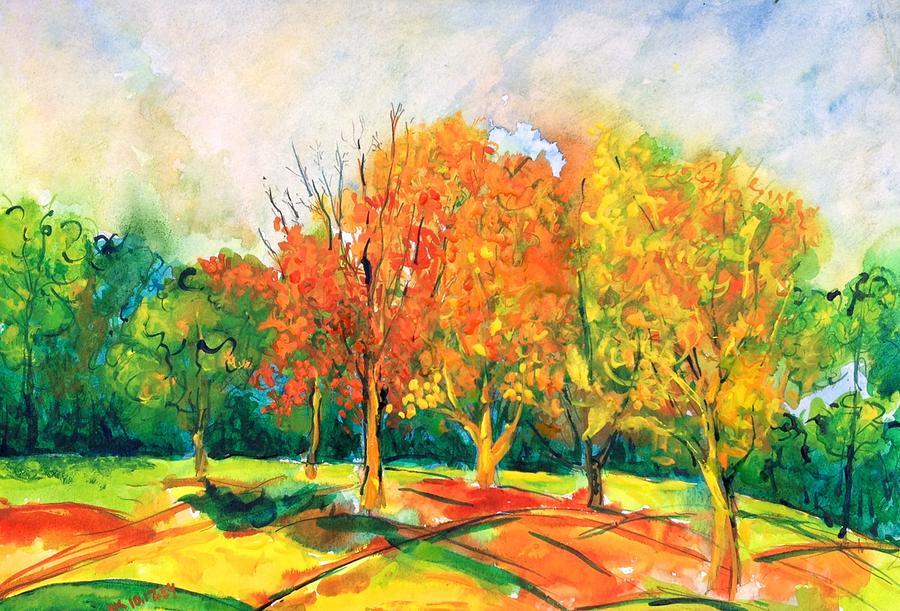 Fall Painting - Fall2014-6 by Vladimir Kezerashvili