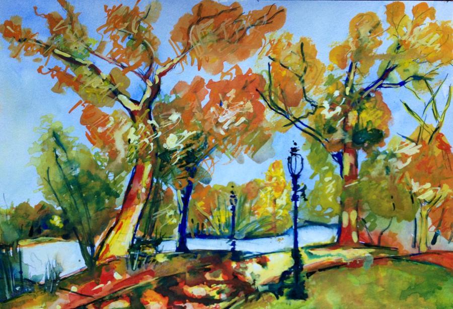 Fall Painting - Fall2014-8 by Vladimir Kezerashvili