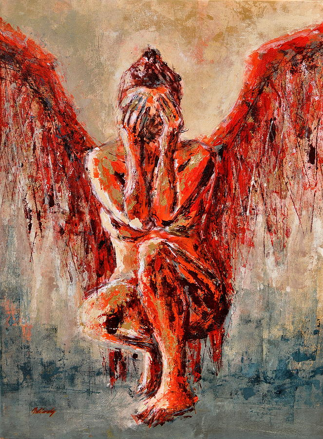 Fallen Angel I. Painting By Beata Belanszky-Demko