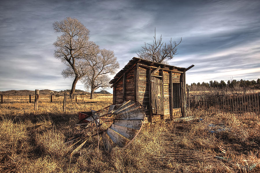 Shed Photograph - Fallen Windmill by Dan Sabin