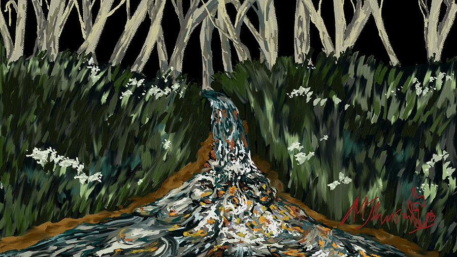 Landscape Digital Art - Falling by Amanda Johnson