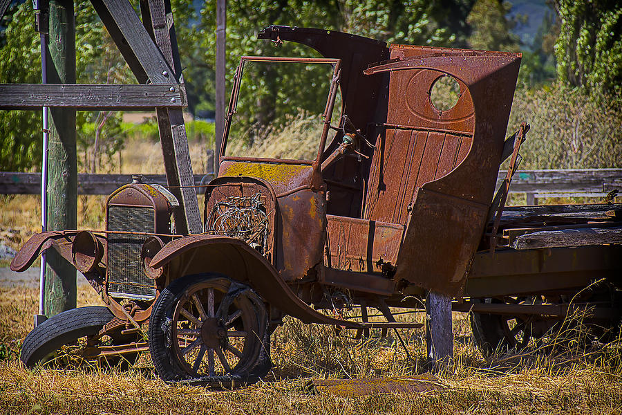 Truck Photograph - Falling Apart by Garry Gay