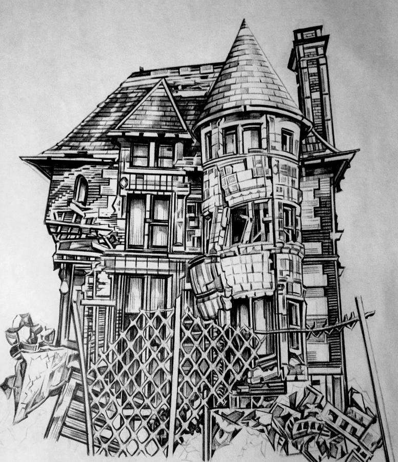 falling apart drawing by gretta alva. Black Bedroom Furniture Sets. Home Design Ideas