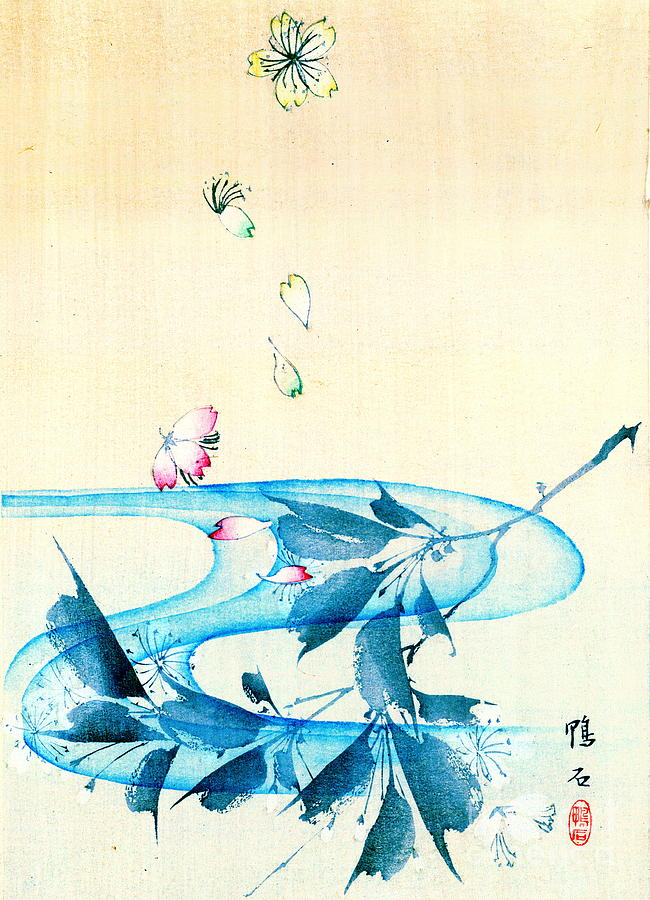 Japanese Prints Photograph - Falling Blossoms 1870 by Padre Art