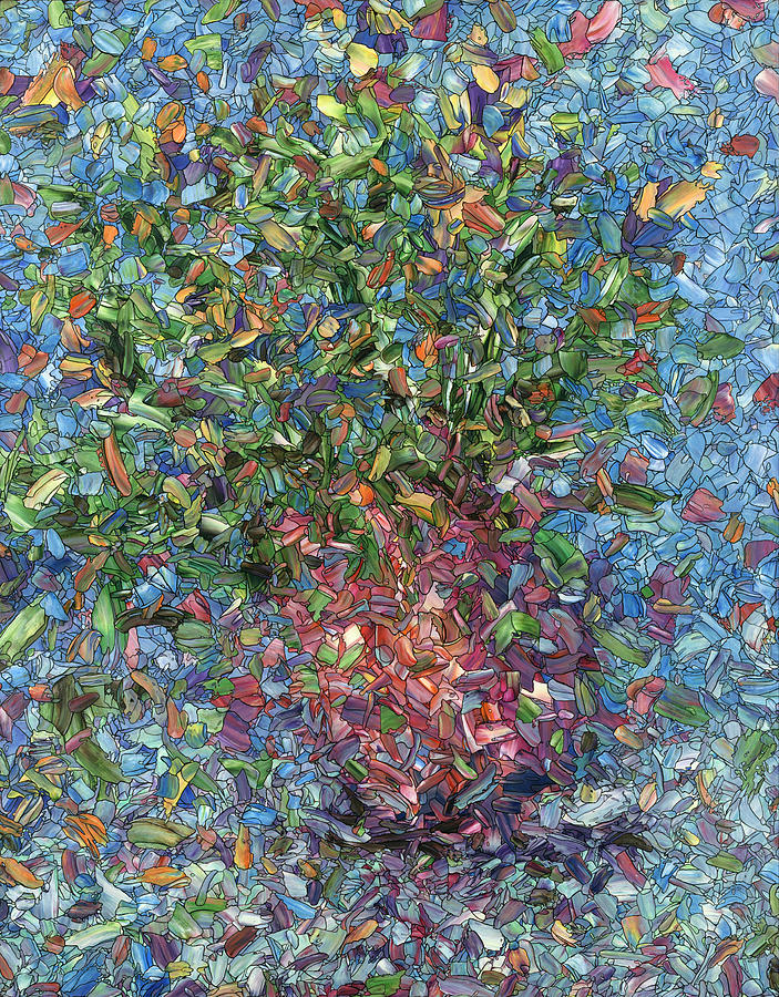 Flowers Painting - Falling Flowers by James W Johnson