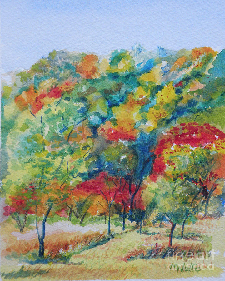 Landscape Painting - Falling For You by Margo Wolfe