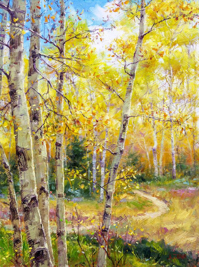 Beautiful Painting - Falling Gracefully by Bill Inman