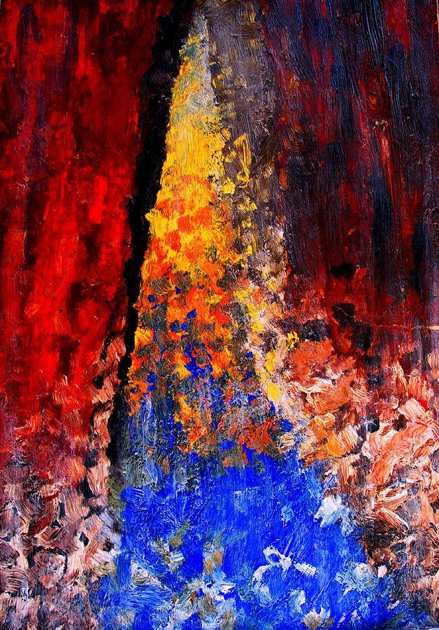 Abstract Painting - Falling by Ian  MacDonald