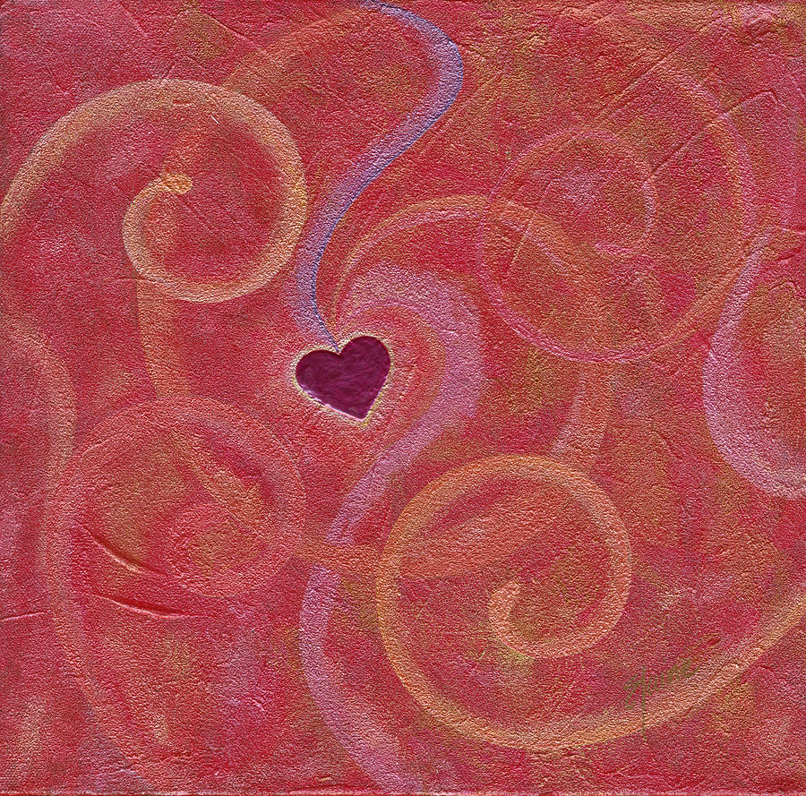Heart Painting - Falling into Love by Elaine Allen