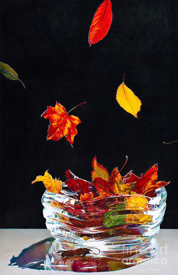 Still Life Painting - Falling Into Place by Arlene Steinberg