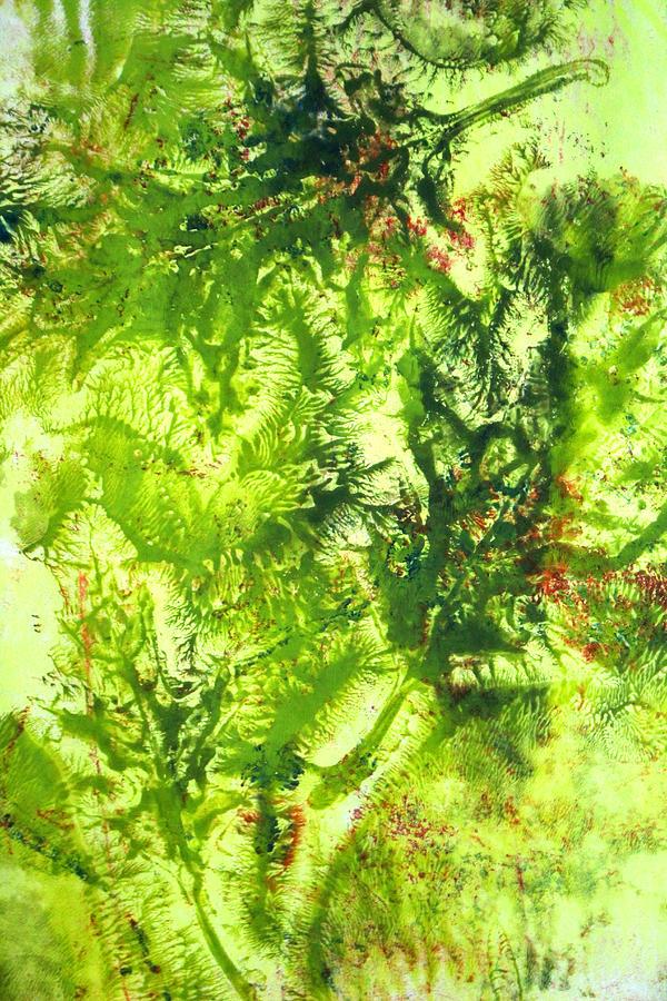 Falling Leaves Abstract Art Painting By Nancy Merkle