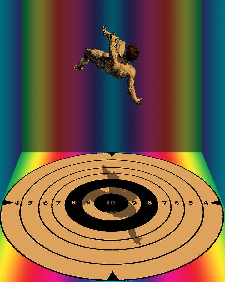 Falling Man Digital Art