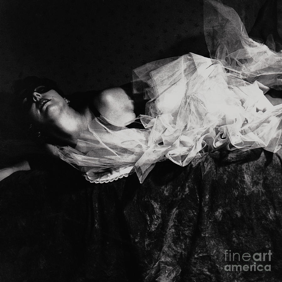 Female Portrait Photograph - Falling Out Of Love by Sharon Coty