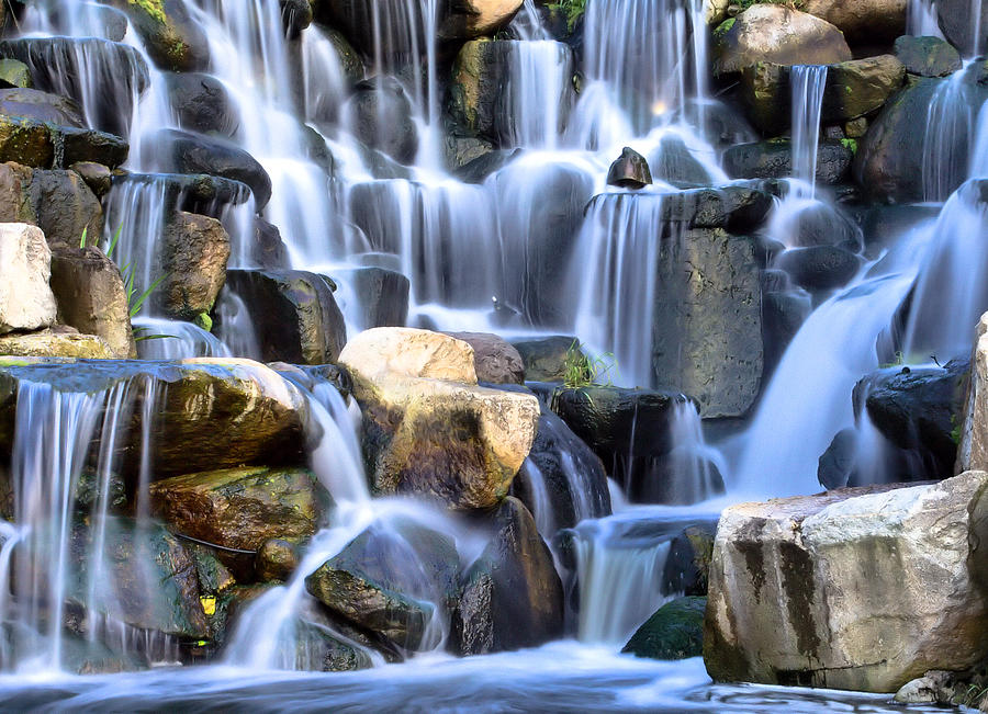 Waterfall Photograph - Falling Silk by Robert  Aycock