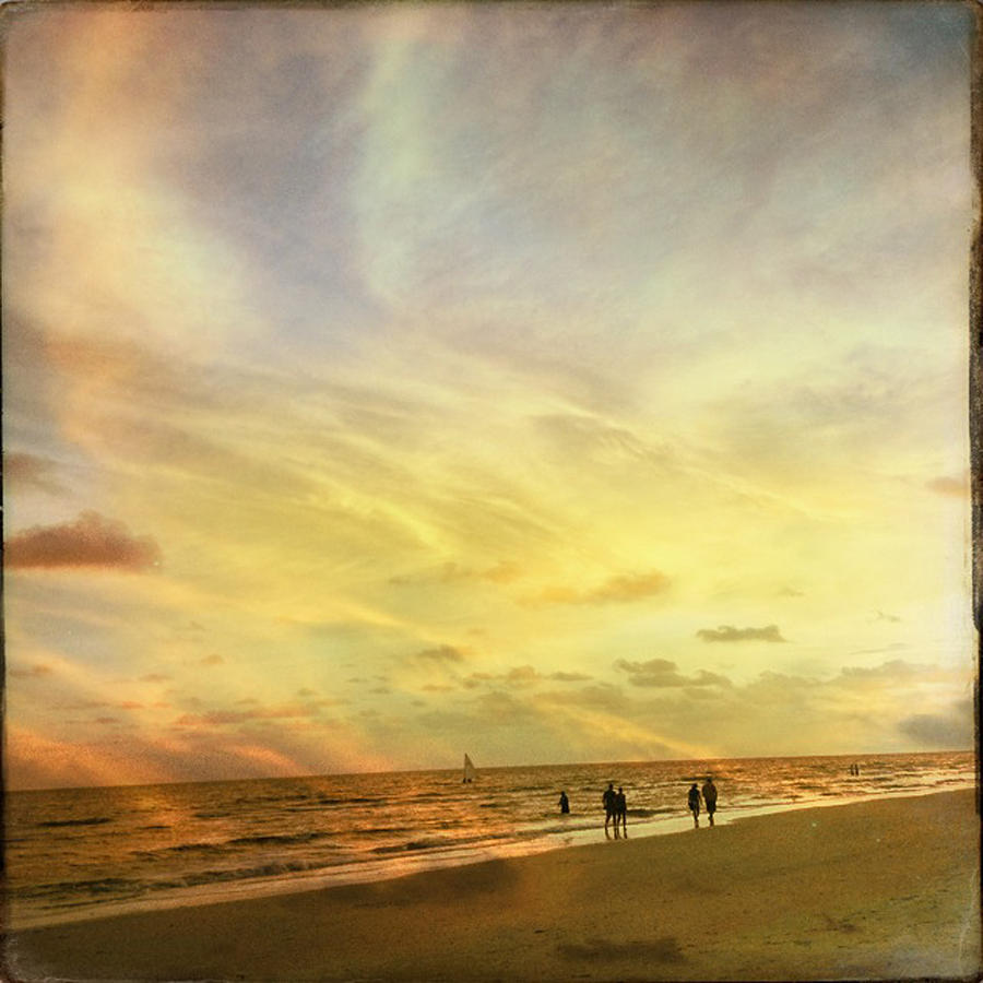 Siesta Key Photograph - Falling Sky Siesta Key II by Alison Maddex