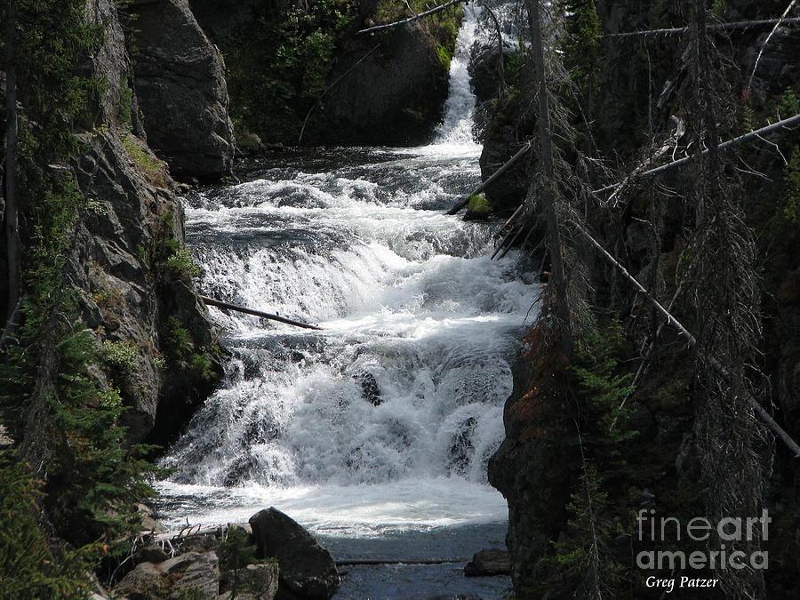 Water Falls Photograph - Falling Water by Greg Patzer