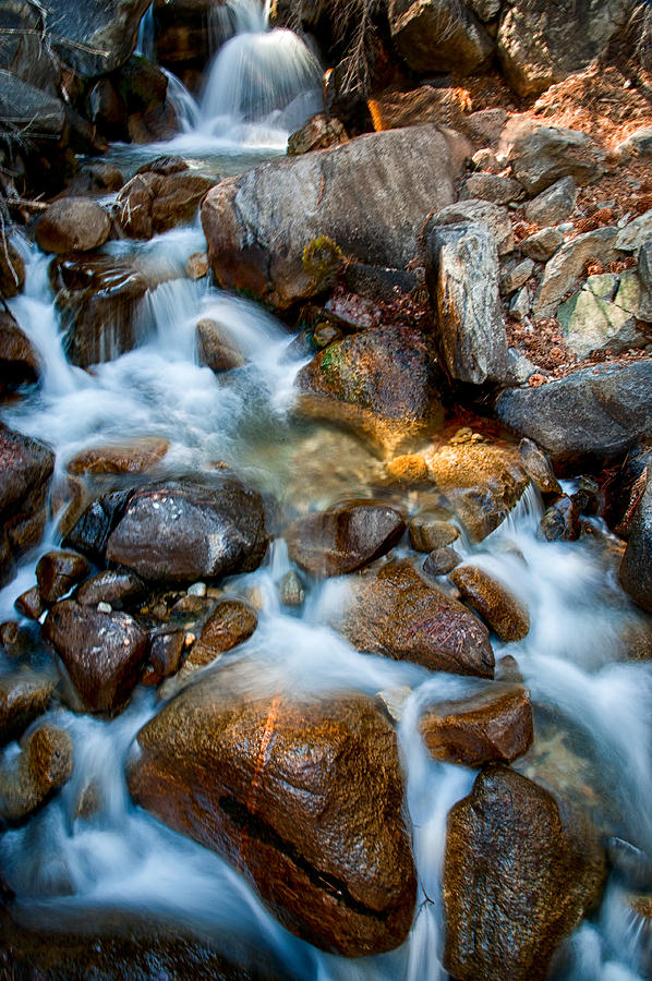 Creek Photograph - Falls And Rocks by Cat Connor