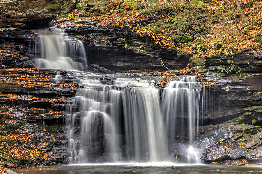 Waterfall Photograph - Falls At Ricketts Glen by Zev Steinhardt