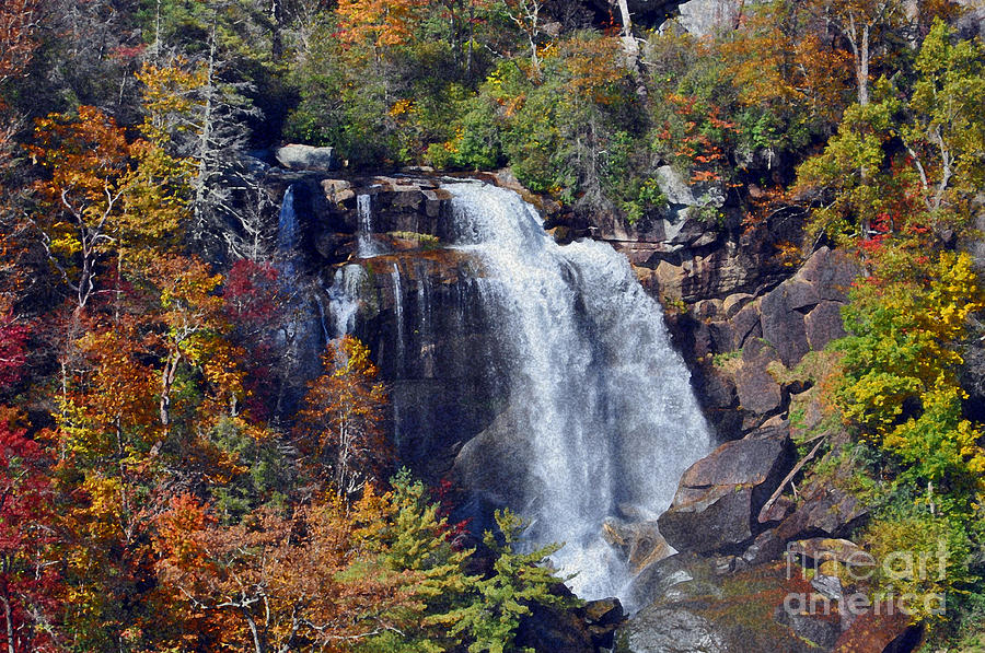 Whitewater Falls Photograph - Falls In Fall by Lydia Holly