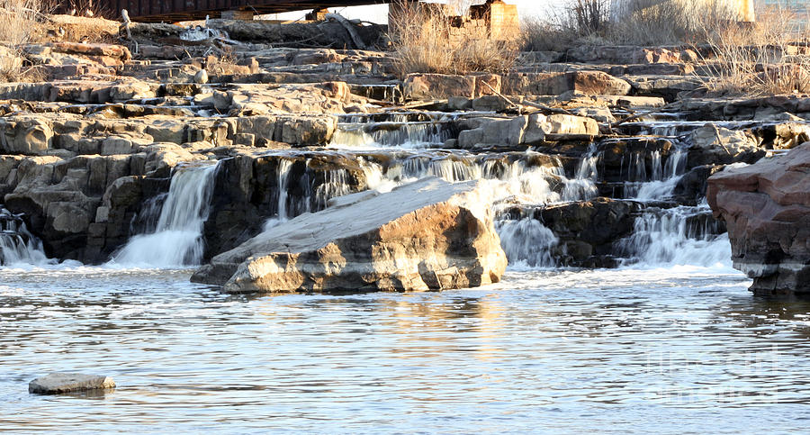 Wildlife Photograph - Falls Park Waterfalls by Lori Tordsen