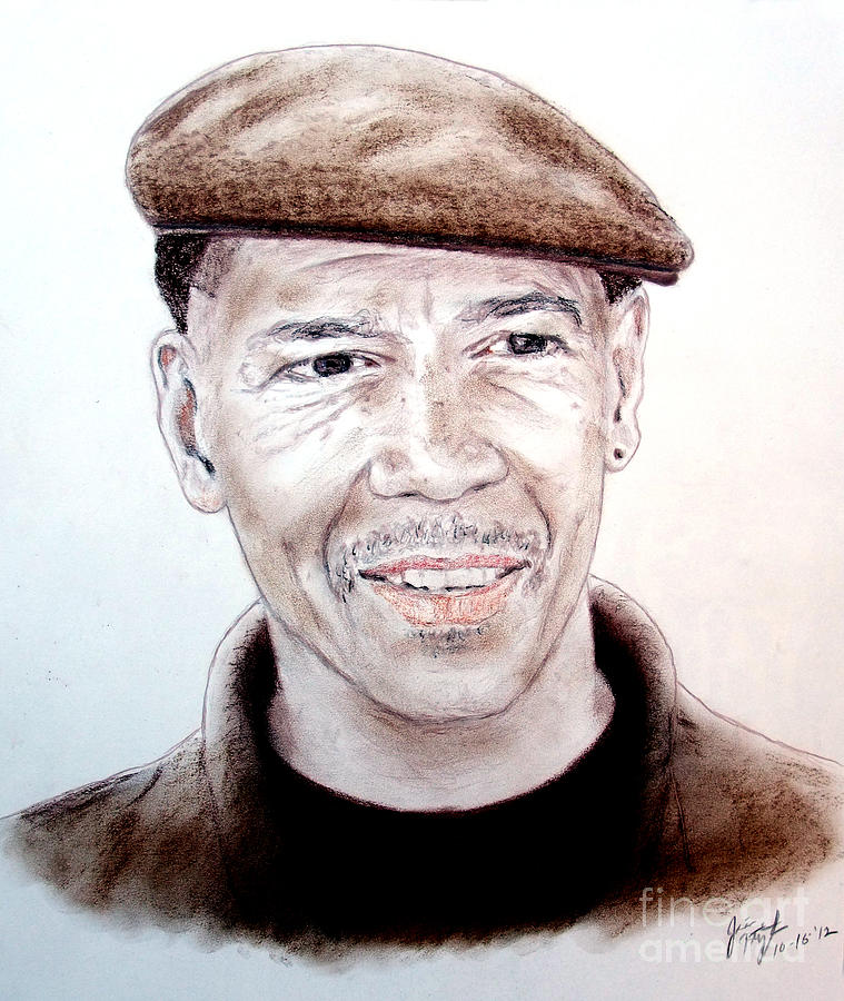 Murder Drawing - Falsely Imprisoned Boxer Dewey Bozella by Jim Fitzpatrick