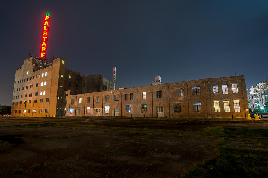 Andy Crawford Photograph - Falstaff Brewery by Andy Crawford