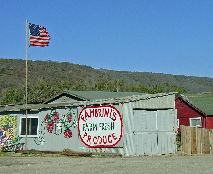 Americana Photograph - Fambrinis Farm Fresh Produce by Suzanne Gaff