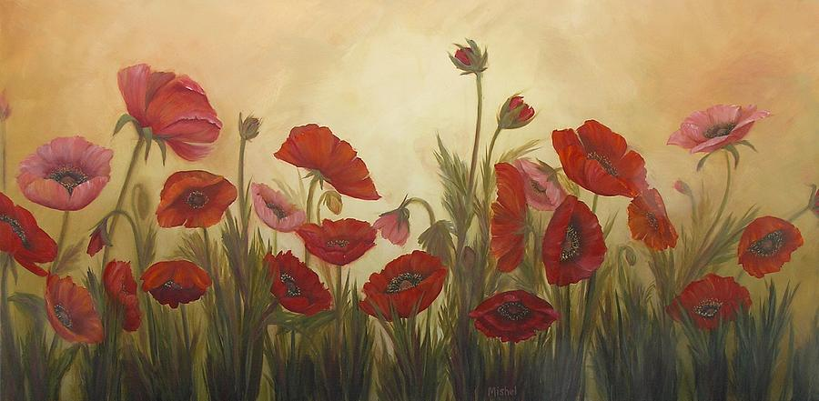 Red Painting - Family Affair by Mishel Vanderten