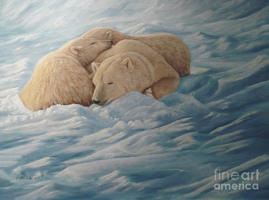 Bears Painting - Family by Gilles Delage