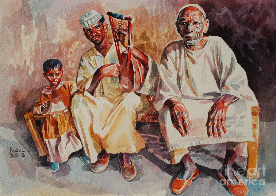 Family Painting - Family by Mohamed Fadul